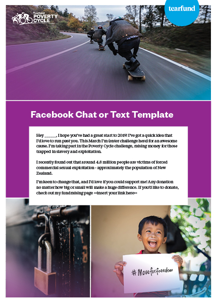 Facebook Chat or Text Template - Ask for Donations