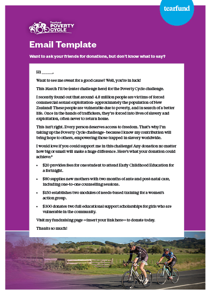 Email Template - Ask for Donations